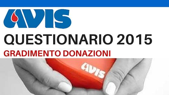 In forma anonima, compila il questionario di gradimento donazione Avis San Vincenzo