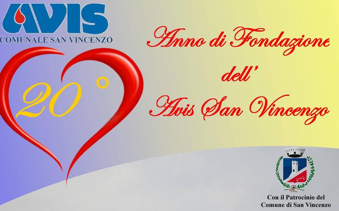 Venti anni di Avis San Vincenzo: grande successo per la festa