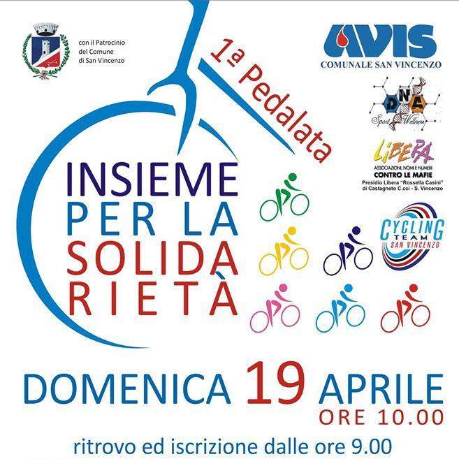 Avis San Vincenzo organizza la Prima pedalata insieme per la solidarietà
